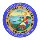 legislative counsel state of california